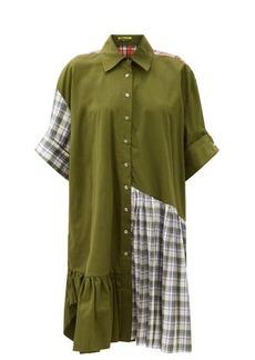 Marques' Almeida Marques'Almeida Ruffle-hem upcycled patchwork cotton shirt dress