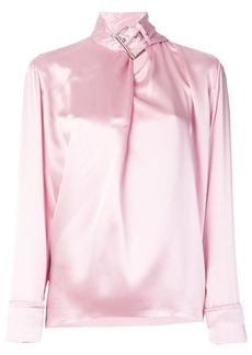 Marques' Almeida satin buckle-neck blouse