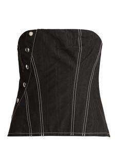 Marques' Almeida Marques'Almeida Snap cotton-blend corset