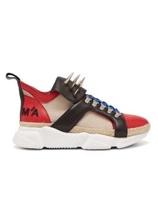 Marques' Almeida Marques'Almeida Spike-tongue leather high-top trainers