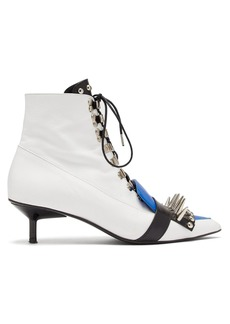Marques' Almeida Marques'Almeida Studded lace-up leather ankle boots
