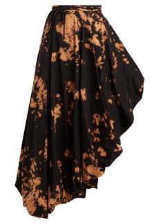 Marques' Almeida Marques'Almeida Tie-dye asymmetric midi skirt