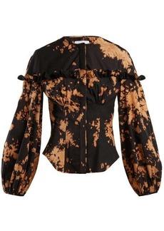 Marques' Almeida Marques'Almeida Tie-dye frilled cotton shirt