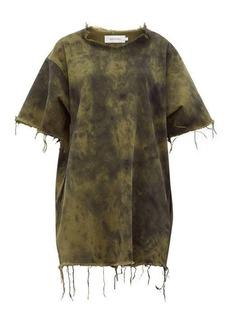 Marques' Almeida Marques'Almeida Tie-dyed denim mini dress