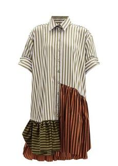 Marques' Almeida Marques'Almeida Upcycled striped cotton shirt dress