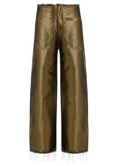 Marques' Almeida Marques'Almeida Wide-leg metallic denim jeans