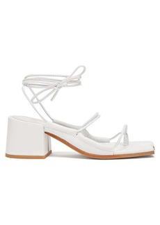 Marques' Almeida Marques'Almeida Wraparound ankle-strap block-heel leather sandals