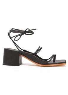 Marques' Almeida Marques'Almeida Wraparound ankle-strap block-heel sandals