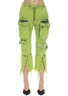 Marques' Almeida Multi Pocket Cropped Denim Jeans