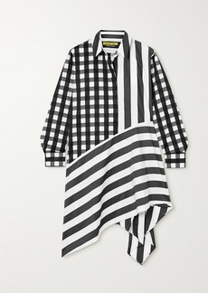 Marques' Almeida Net Sustain Remade Asymmetric Printed Cotton-poplin Shirt Dress