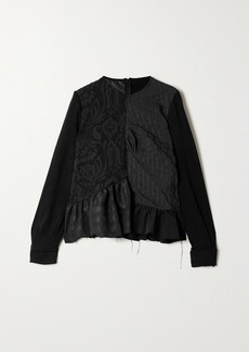 Marques' Almeida Net Sustain Remade By Marques Almeida Oversized Jacquard And Seersucker Blouse