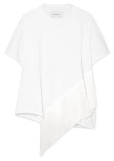 Marques' Almeida Oversized Fringed Cotton-jersey T-shirt