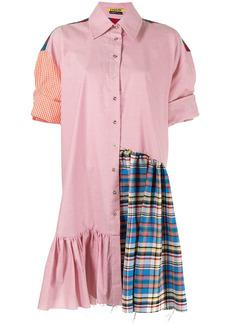 Marques' Almeida patchwork short-sleeve oversized shirt