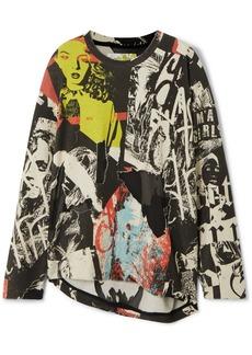 Marques' Almeida Printed Devoré Cotton-blend Jersey Sweatshirt