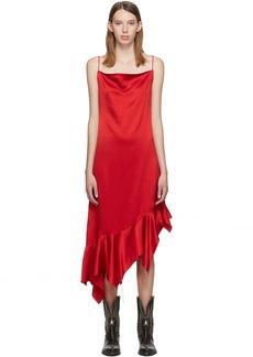 Marques' Almeida Red Silk Peplum Dress