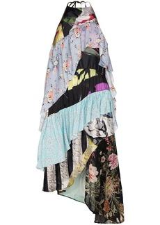 Marques' Almeida reM'Ade patchwork halterneck midi dress