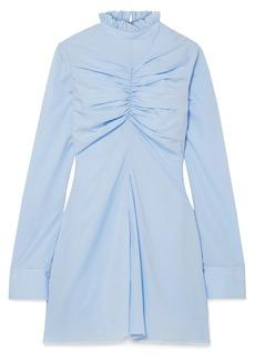 Marques' Almeida Ruched Tencel Mini Dress