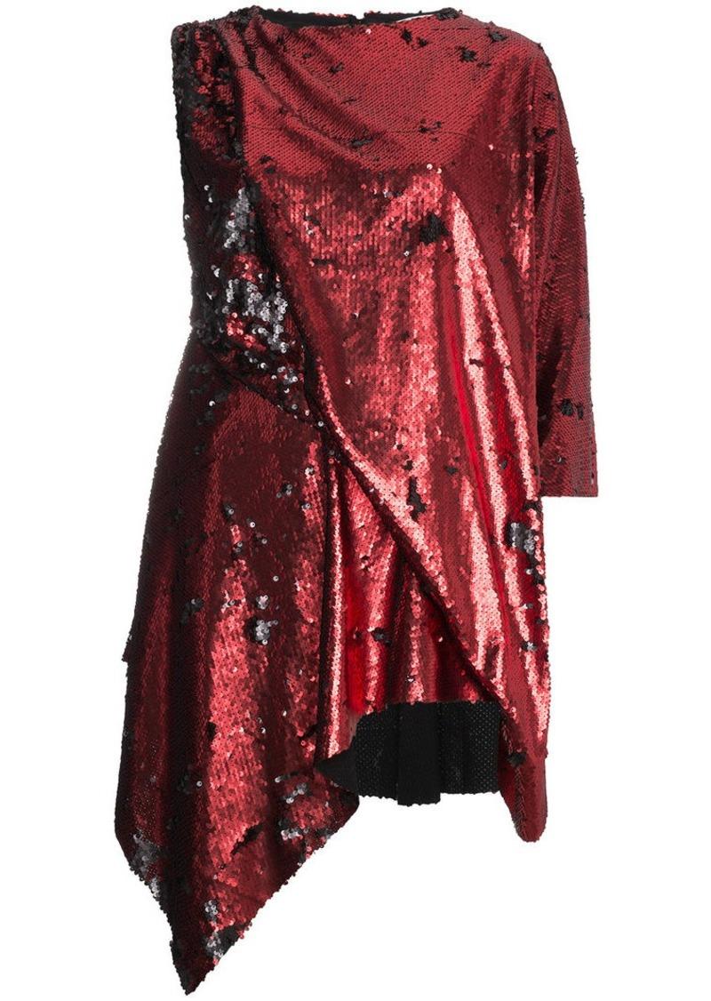 Marques' Almeida sequin embellished asymmetric mini dress