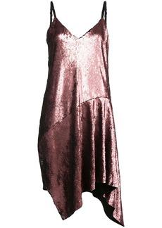 Marques' Almeida sequin-embellished draped slip dress