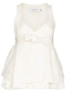 Marques' Almeida sleeveless belted bust blouse