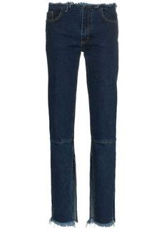 Marques' Almeida split hem low-rise jeans