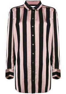 Marques' Almeida striped longline shirt