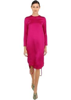 Marques' Almeida Twisted Silk Satin Dress
