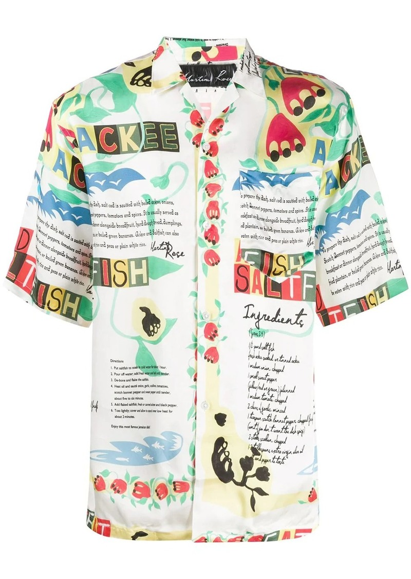 Martine Rose Ackee print shirt