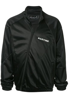 Martine Rose asymmetric fastening track jacket