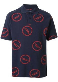 Martine Rose Baba logo print polo shirt