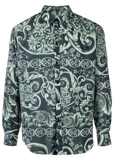 Martine Rose baroque-print corduroy shirt