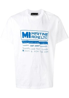 Martine Rose brand logo T-shirt