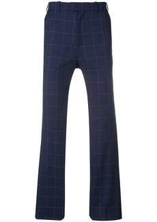 Martine Rose checked navy trousers