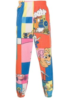 Martine Rose comic print fleece track pants