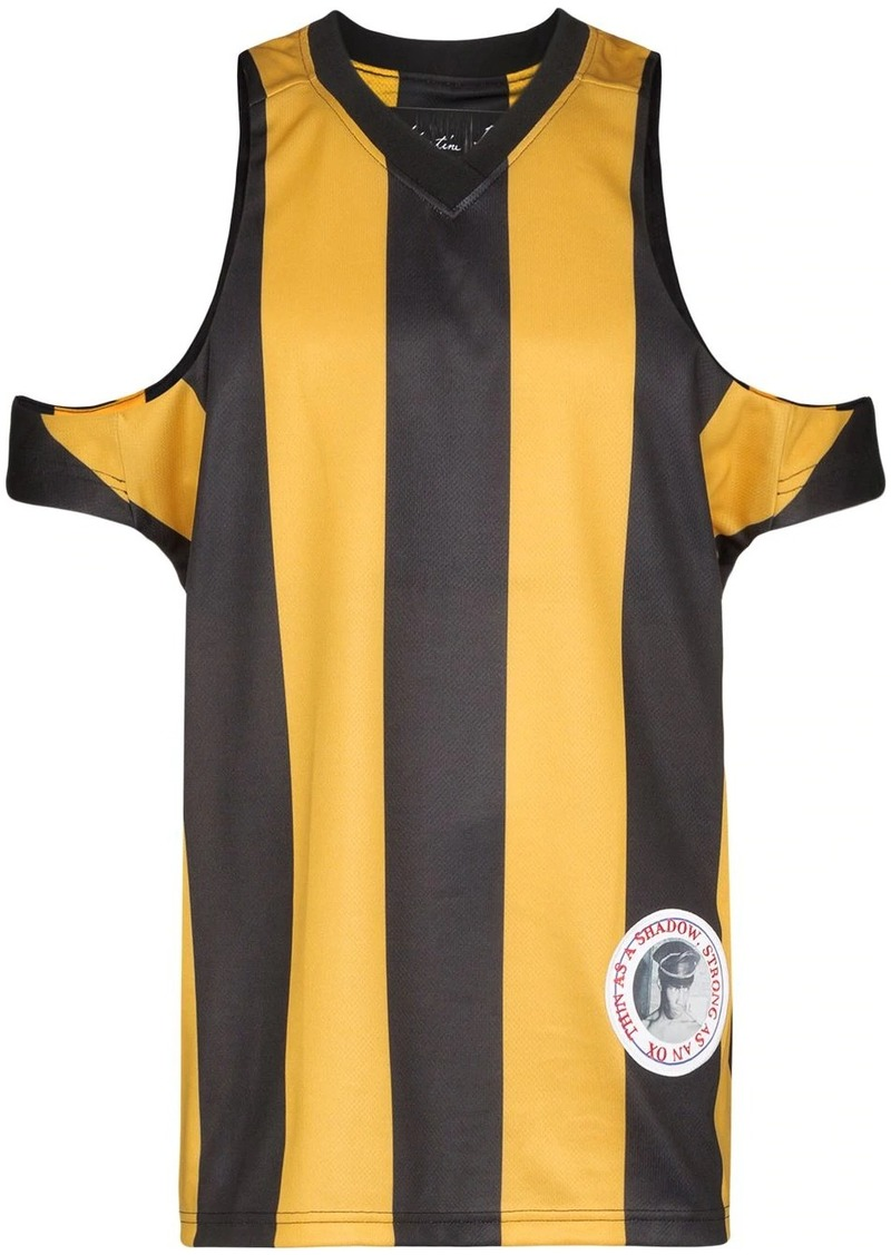 Martine Rose cut-out striped football shirt