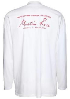 Martine Rose Logo Jersey Long Sleeve T-shirt