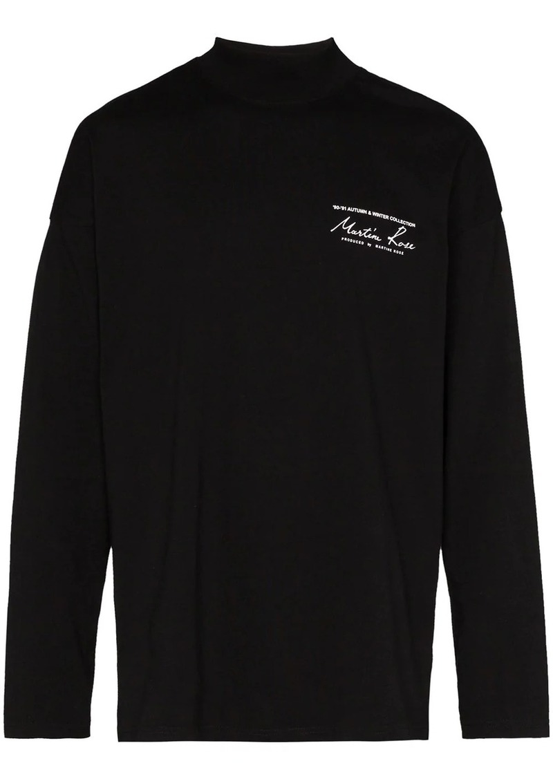 Martine Rose logo print long-sleeve T-shirt