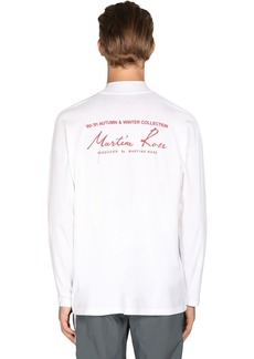 Martine Rose Logo Print Mock Neck Jersey T-shirt
