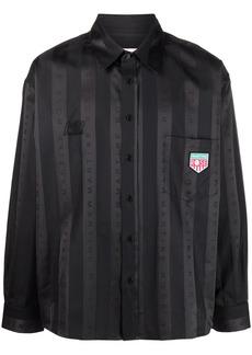 Martine Rose logo-print striped shirt
