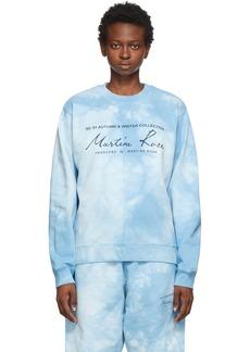 Martine Rose Blue Dye Classic Crew Sweatshirt