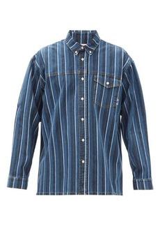 Martine Rose Buttondown jacquard-stripe denim shirt