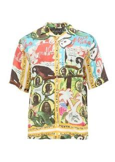 Martine Rose Caribbean-print twill shirt