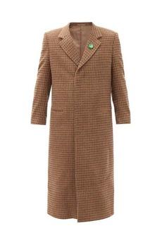Martine Rose Check virgin-wool single-breasted coat