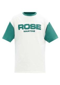 Martine Rose Contrast-sleeve cotton-jersey T-shirt