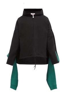 Martine Rose Draped-panel cotton-jersey hooded sweatshirt