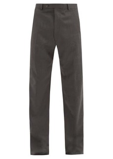 Martine Rose High-rise jacquard-woven wool trousers
