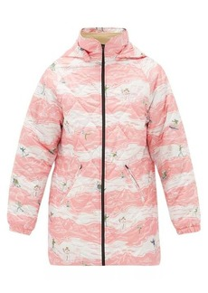 Martine Rose Hooded ski-print quilted jacket