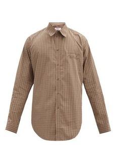 Martine Rose Logo-embroidered check cotton-blend shirt