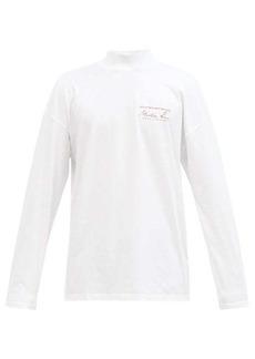 Martine Rose Logo-print cotton-jersey long-sleeved T-shirt