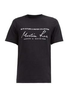 Martine Rose Logo-print cotton-jersey T-shirt
